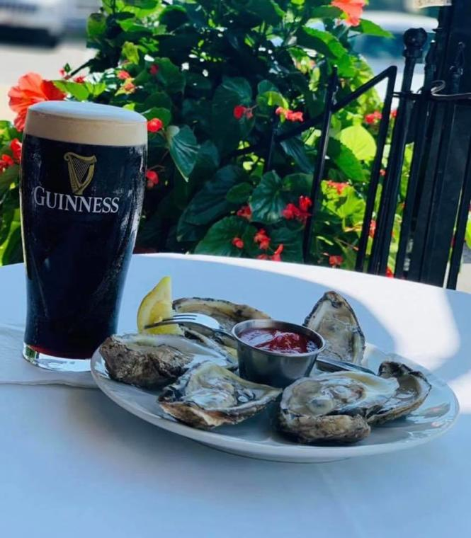 Guinness and Oysters.