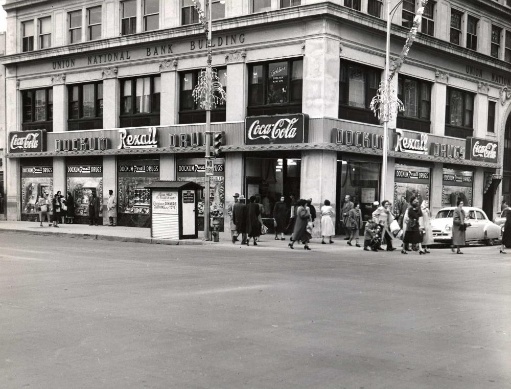 Dockum Drugs Rexall Store in Wichita Circa 1955