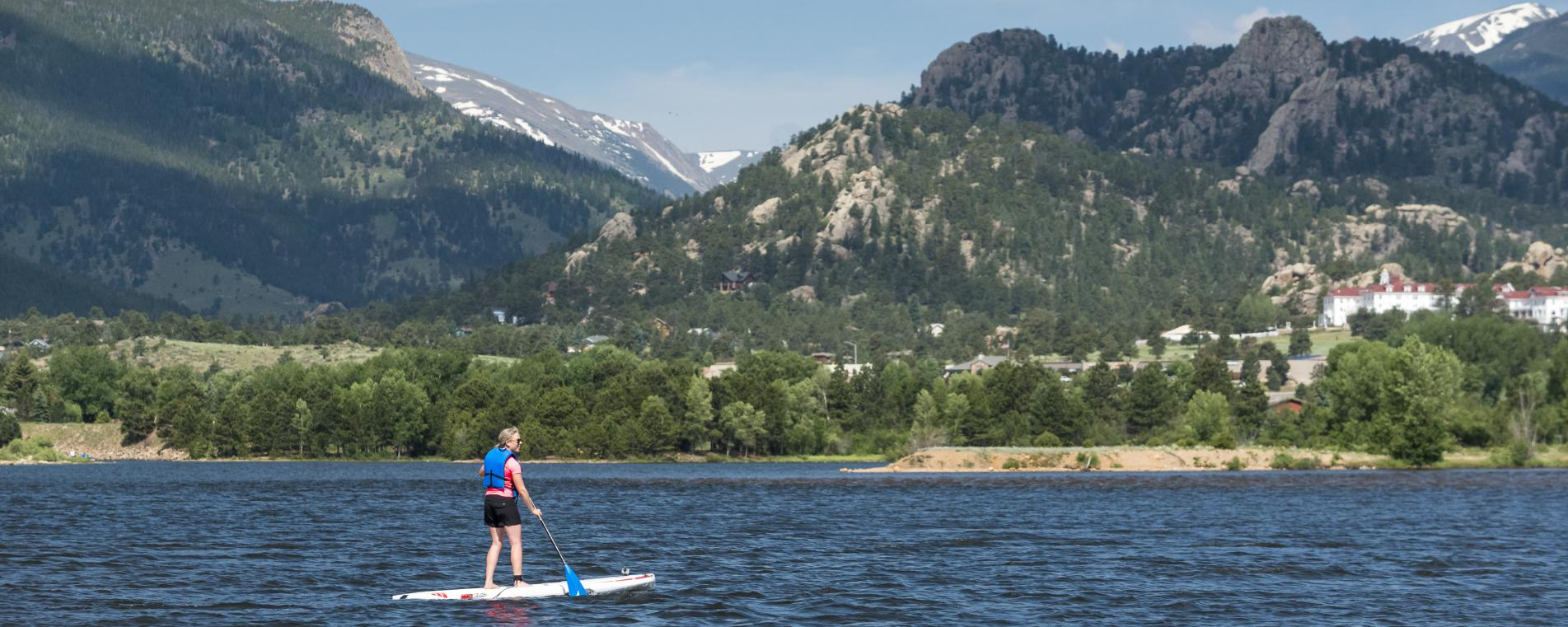 SUP on Lake Estes