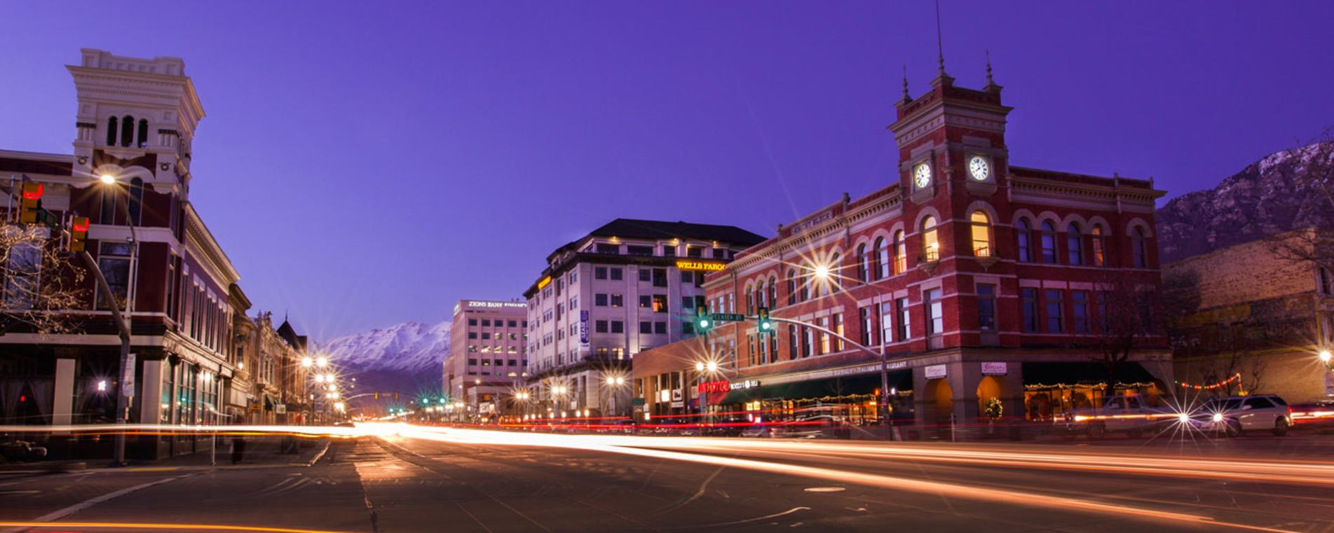 Downtown Provo at Night