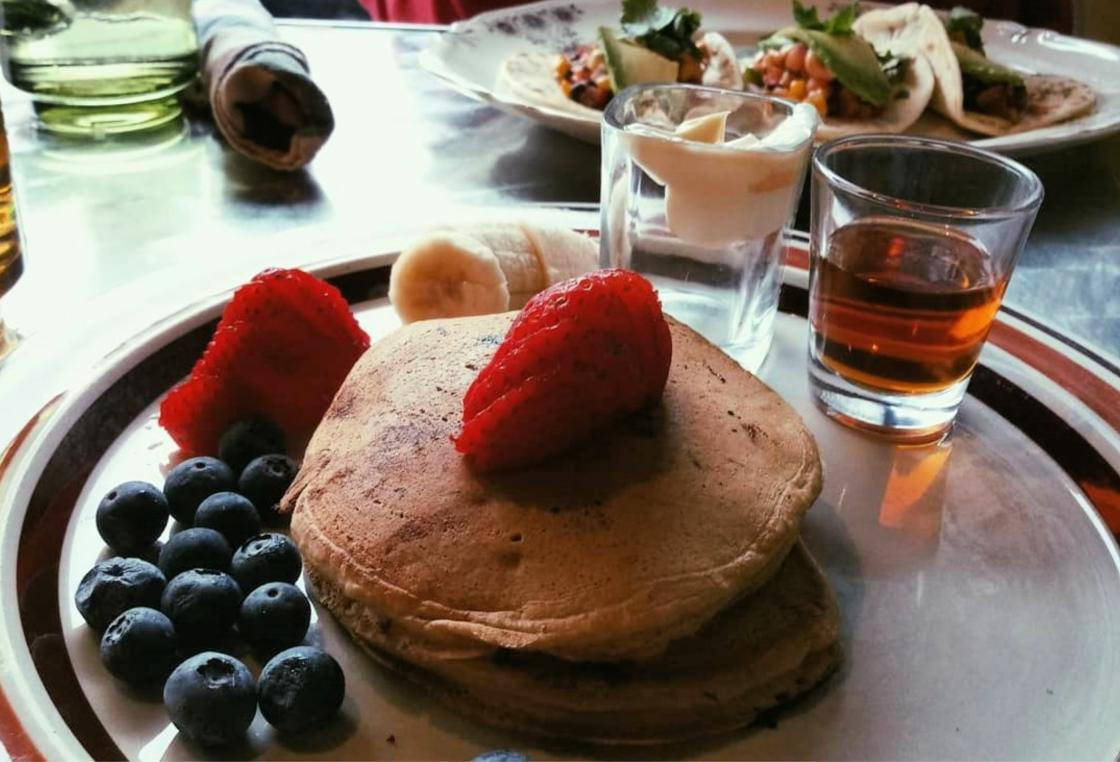 Enjoy vegan pancakes at Wicked Willow, located in downtown Stevens Point!