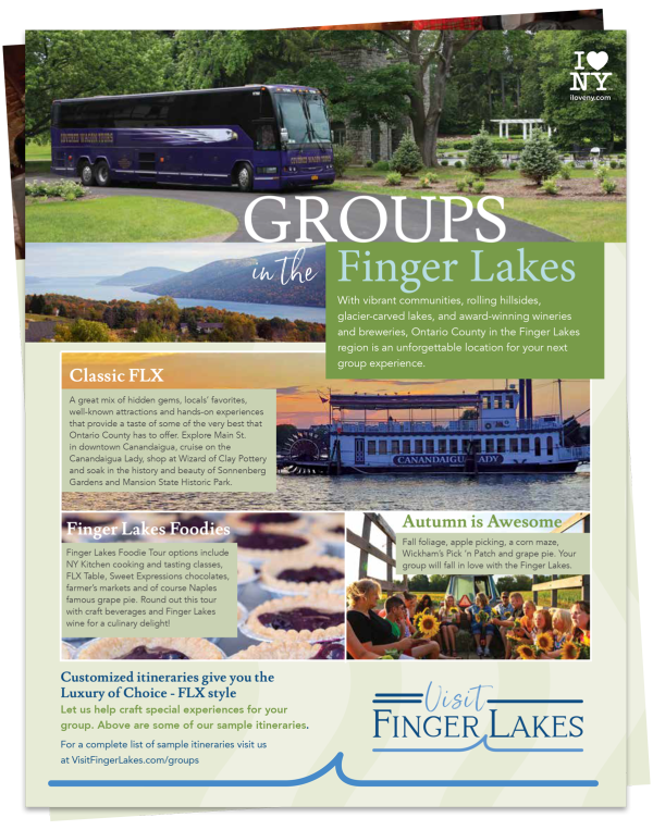 Groups in the Finger Lakes