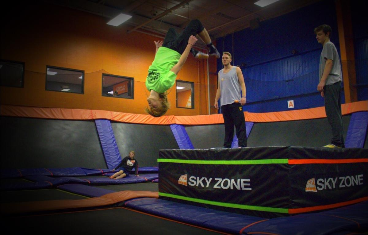 Sky Zone - Performing a flip