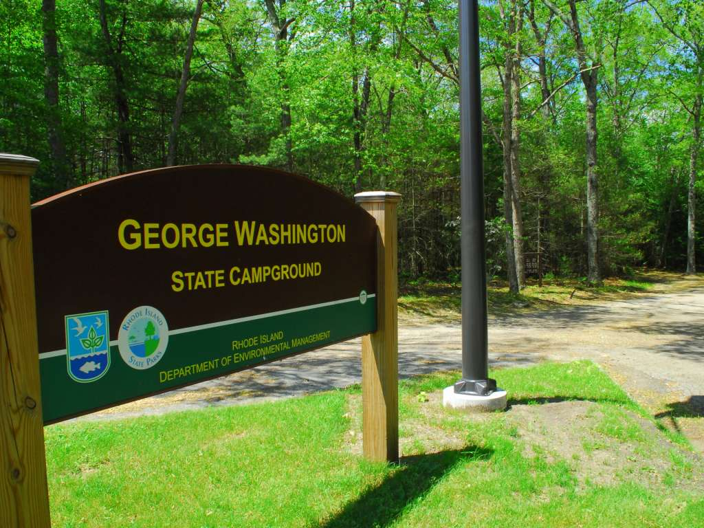 George Washington State Campground, Glocester sign