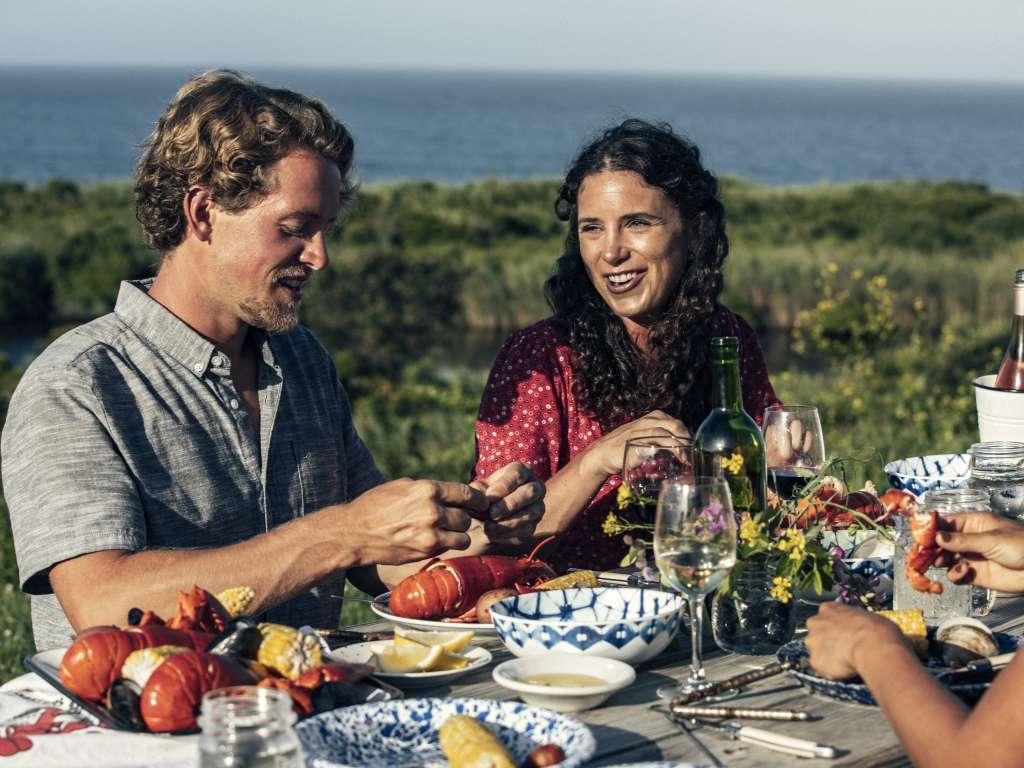 Outdoor Lobster Dinner on Block Island