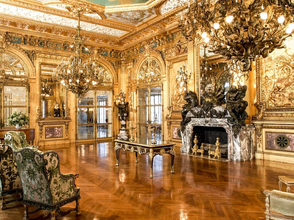 Opulent decor at Marble House, Newport.