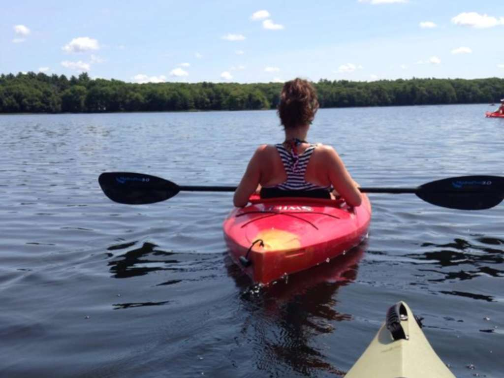 Kayaking serene ponds like this one on Block Island is a great way for beginners to get their sea legs.