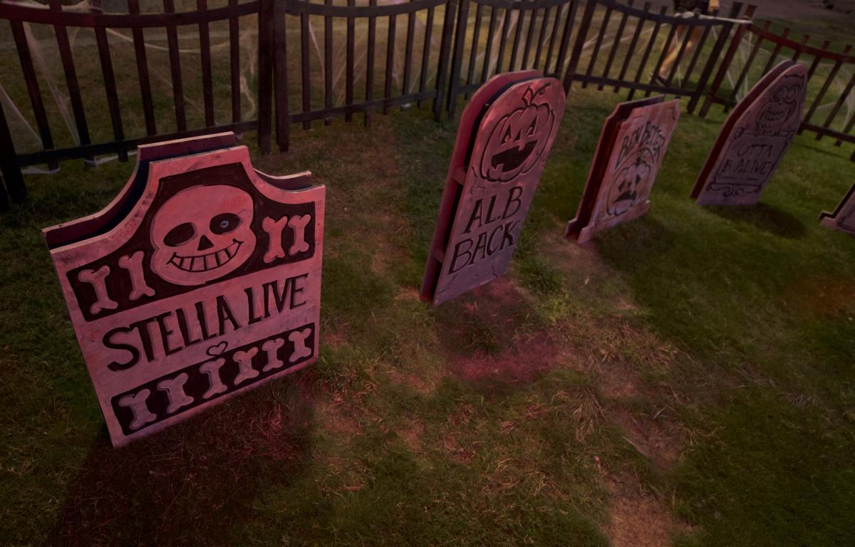 Halloween Tombstone Decor in Chandler