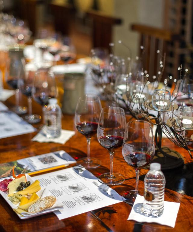 Becker Vineyards Barrell Room