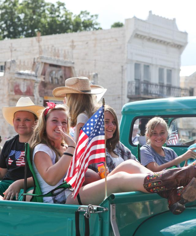 Children in Main Street July 4th Parade