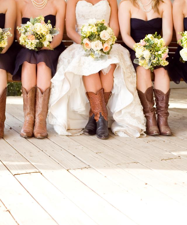 Boots Bride Wedding Party