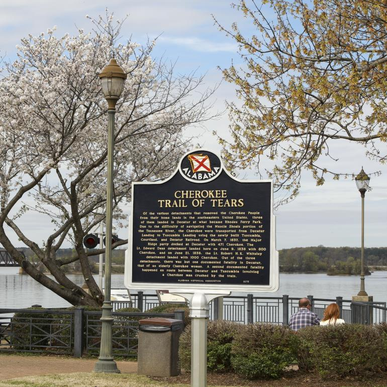 Rhodes Ferry Park Historical Sign