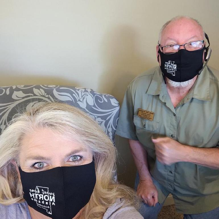 Angie & Randy with mask on