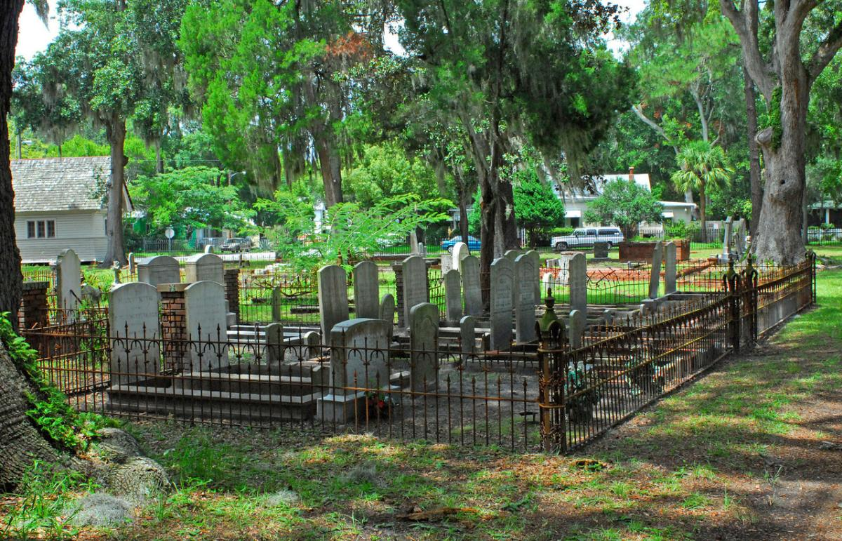 Graves found in Brunswick's historic Oak Grove Cemetery date back to the early 19th century. Photo by Troup Nightengale.