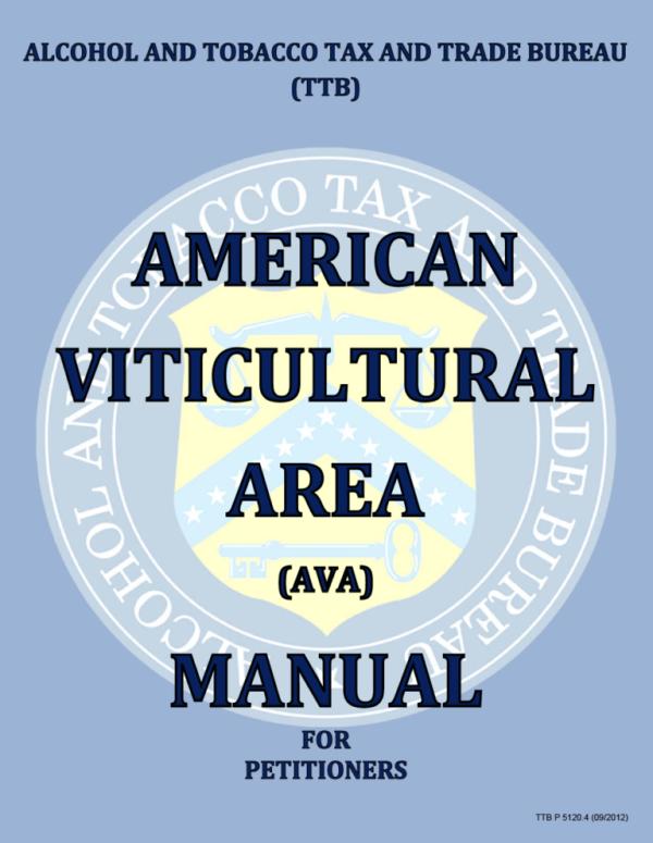 TTB American Viticultural Area Manual