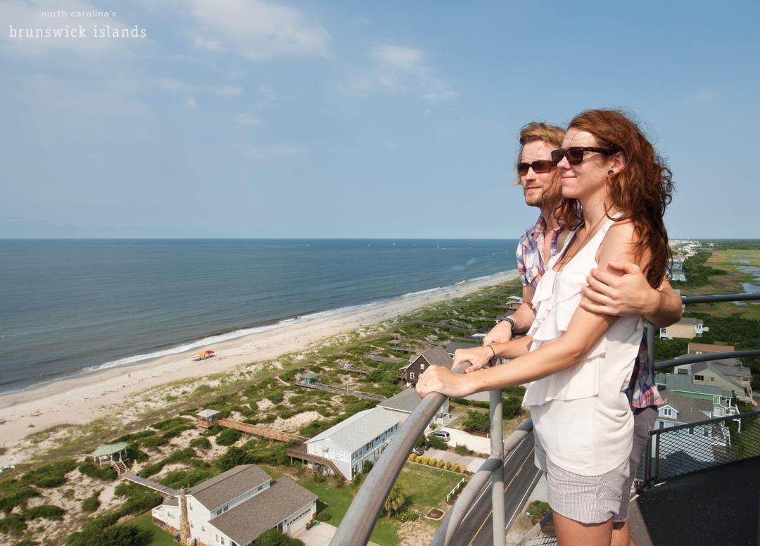 Couple at Oak Island Lighthouse