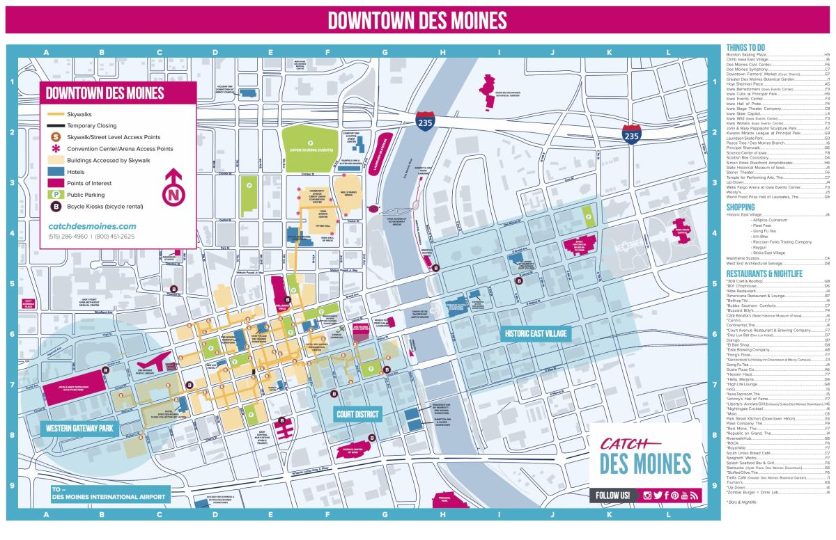 Downtown DSM Map