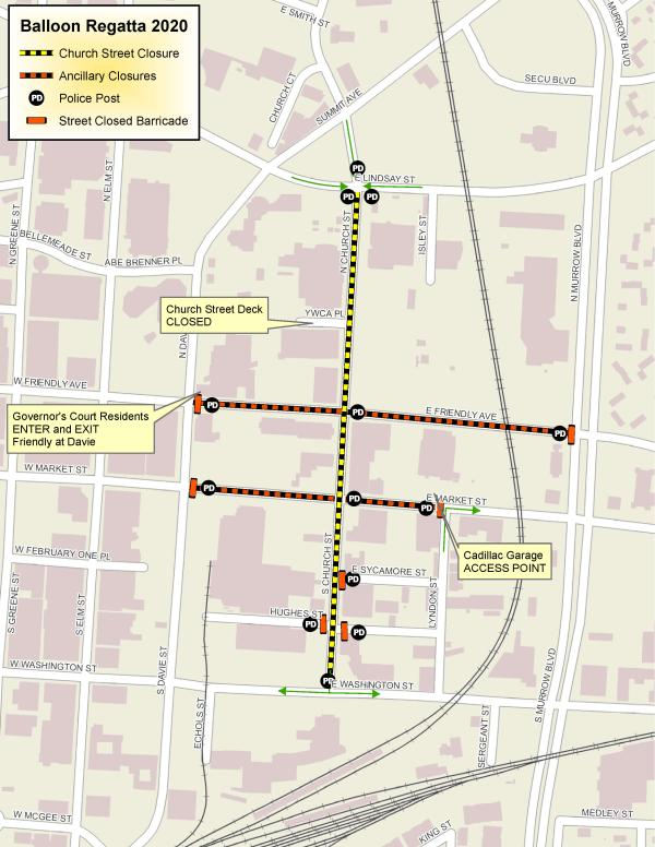 Regatta Traffic Route