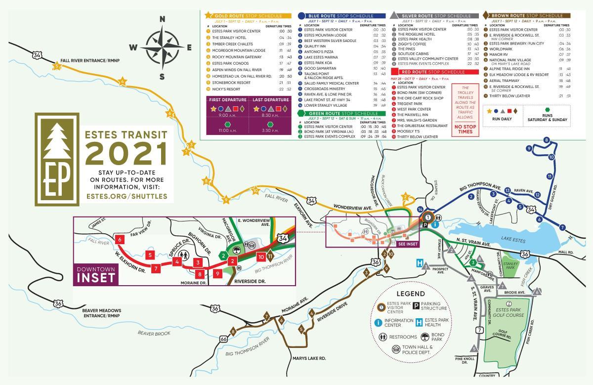 2021 Estes Transit Map