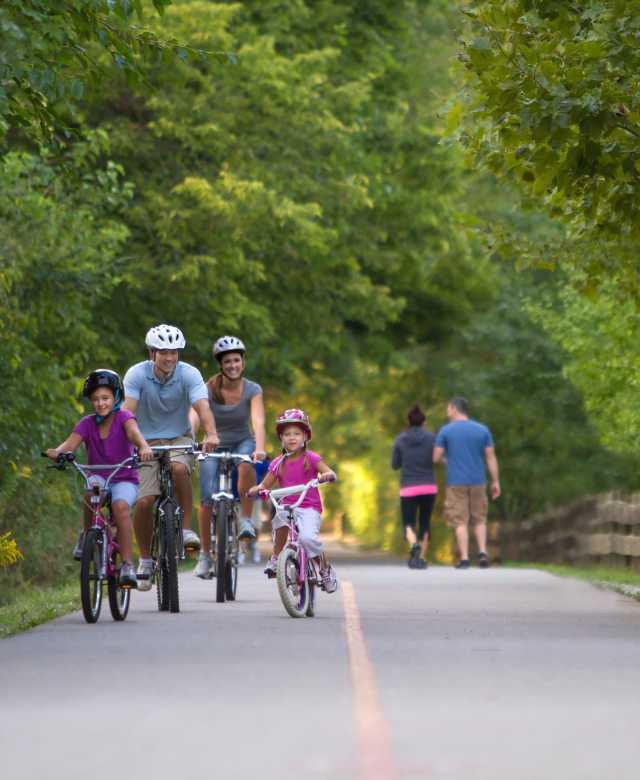 Monon Family Biking