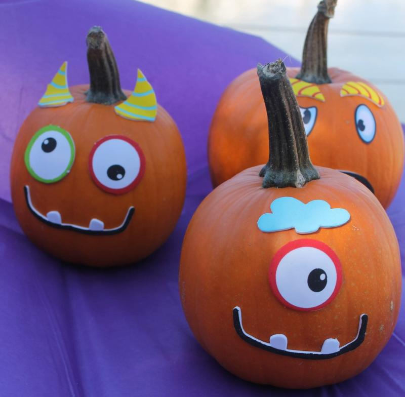 Decorated pumpkins from Boo Lus Halloween Event in North Myrtle Beach
