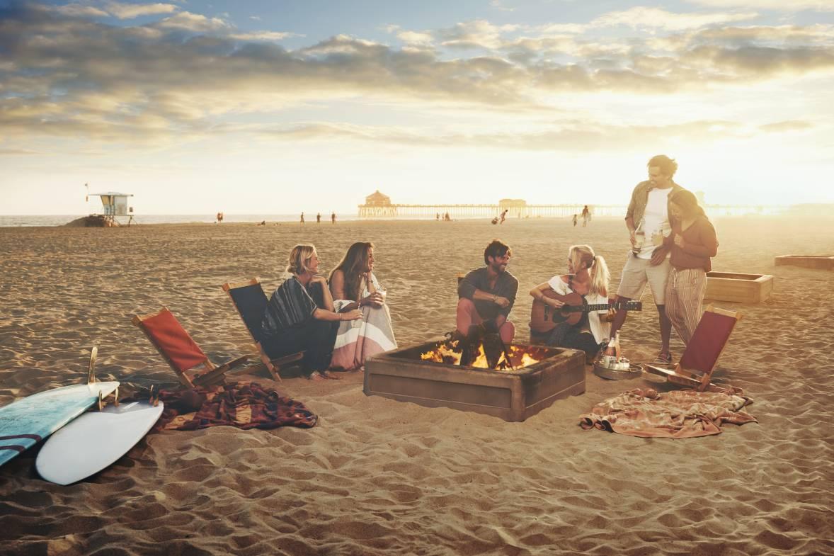 Bonfires in Huntington Beach, CA
