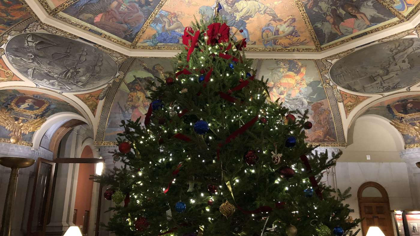 Holiday Tree in New York State Capitol