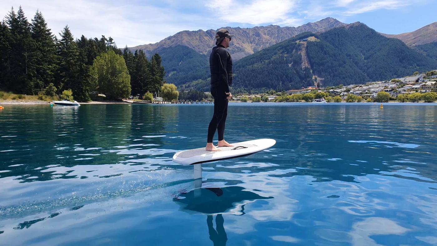 Fliteboarding on Lake Wakatipu