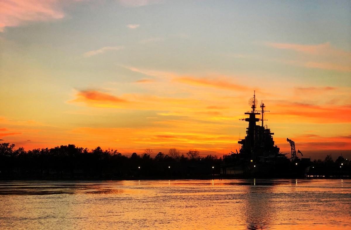 Battleship Sunset