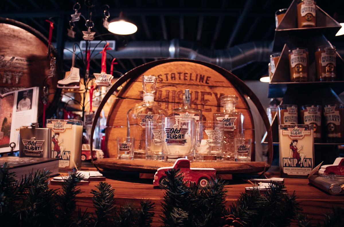 gift display at a distillery