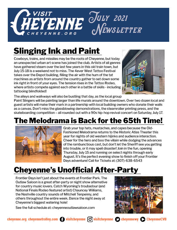 July 2021 Newsletter Cover