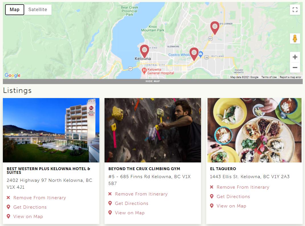 Google Maps Itinerary Builder