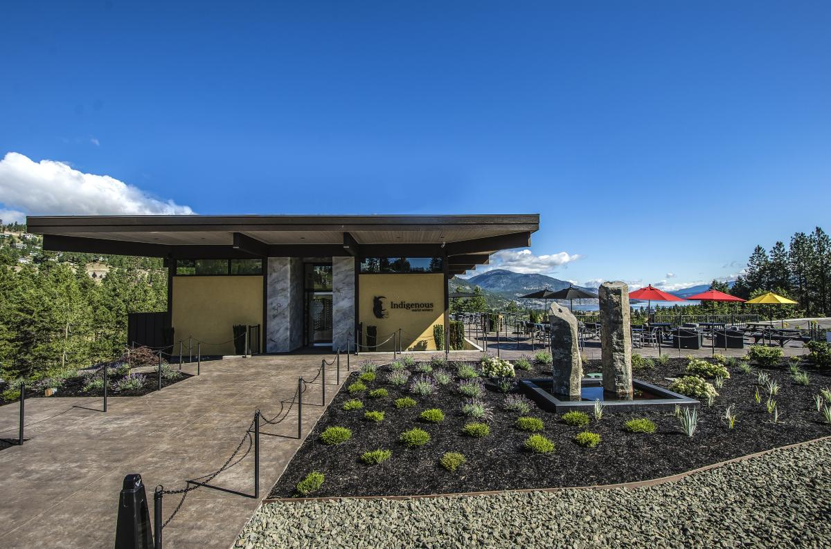 Exterior of Indigenous World Winery in West Kelowna, BC