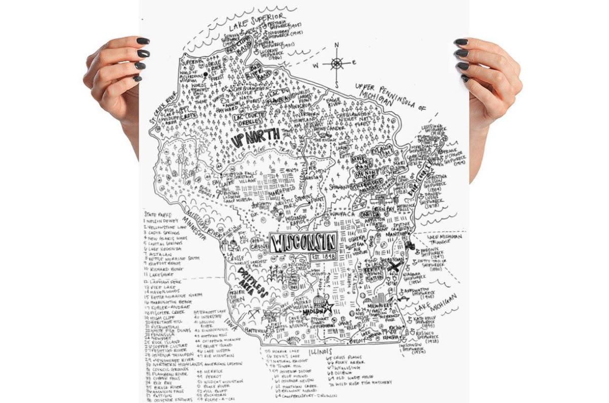 Crystal Dawn Wisconsin Map - AGORA
