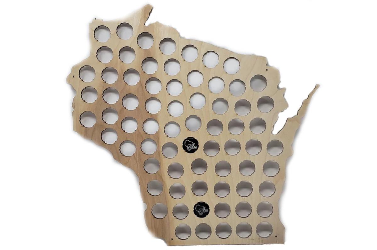 O'so - Wisconsin Beer Cap Map