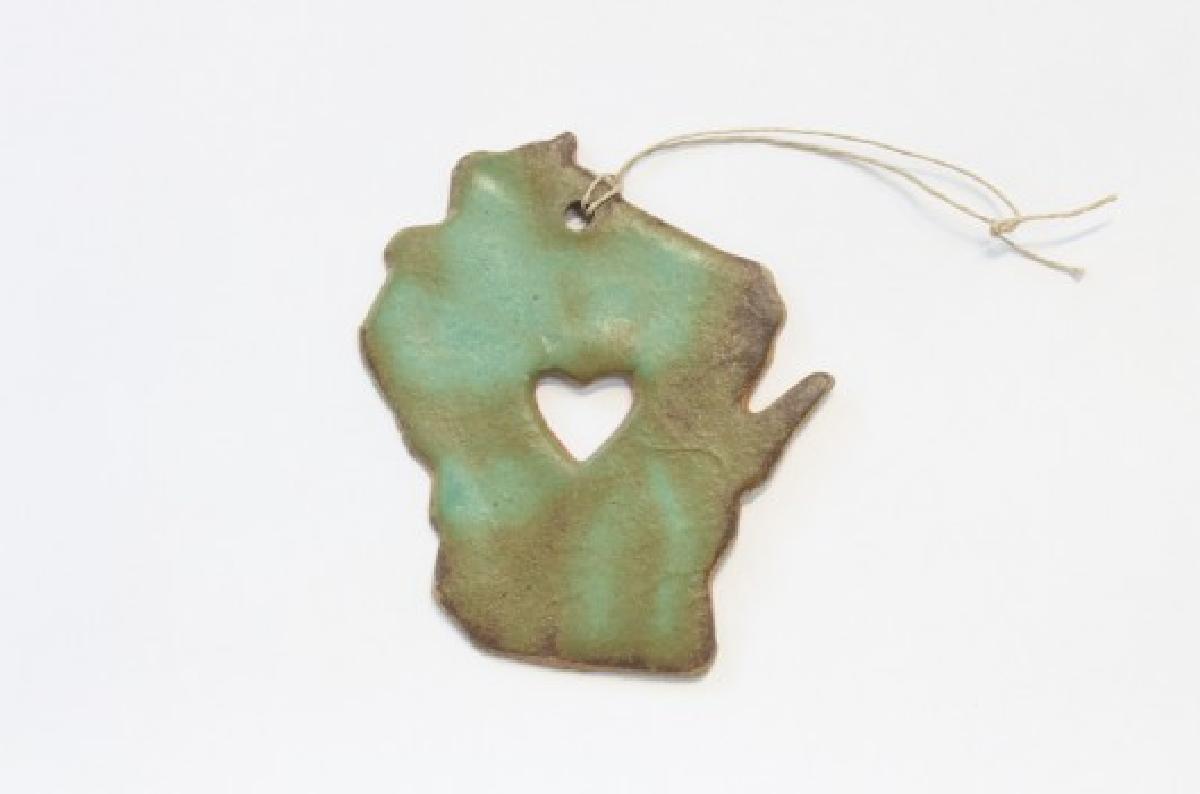 Wisconsin Ornament - Patina AGORA