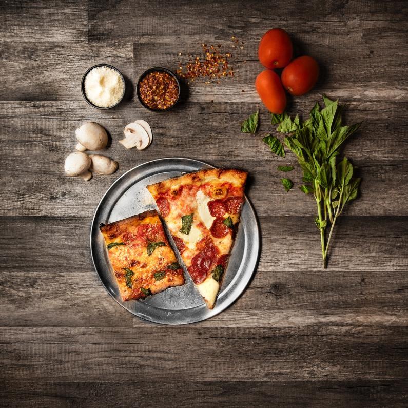 Pizza Slize, Mushrooms and Tomato