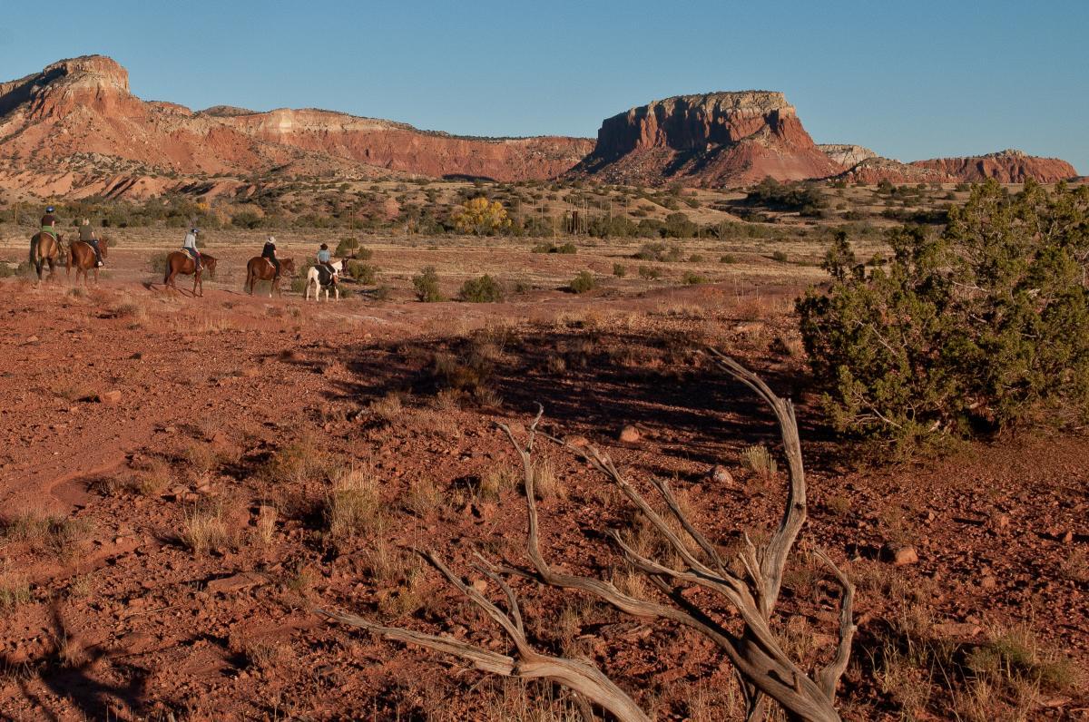 A Horseback Ride Through Ghost Ranch: The Georgia O'Keeffe Landscape Trail Ride, New Mexico Magazine
