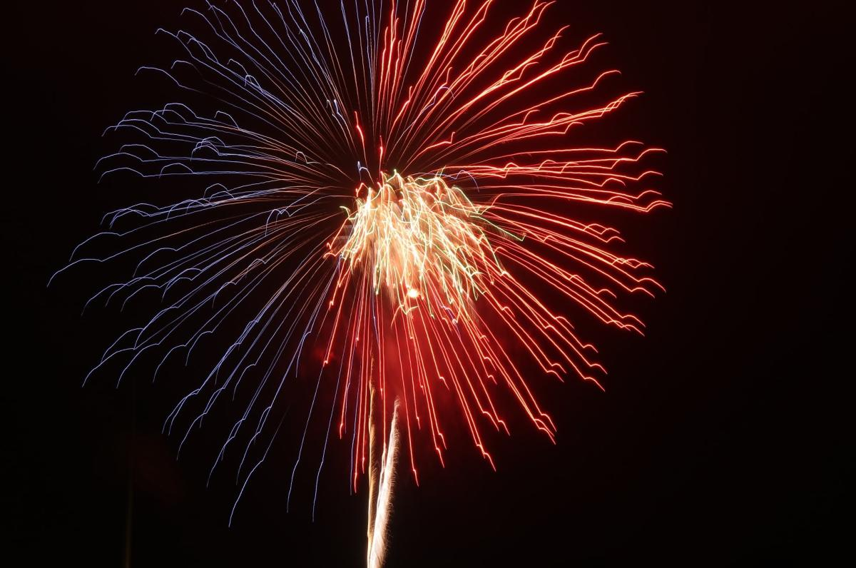 Fireworks over The Woodlands, Texas
