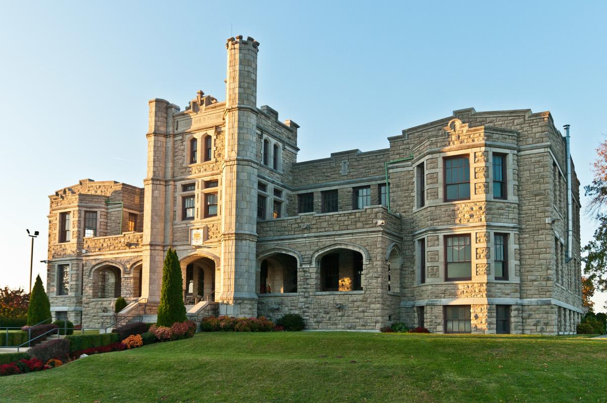 Outdoor view of Pythian Castle in Springfield, Missouri