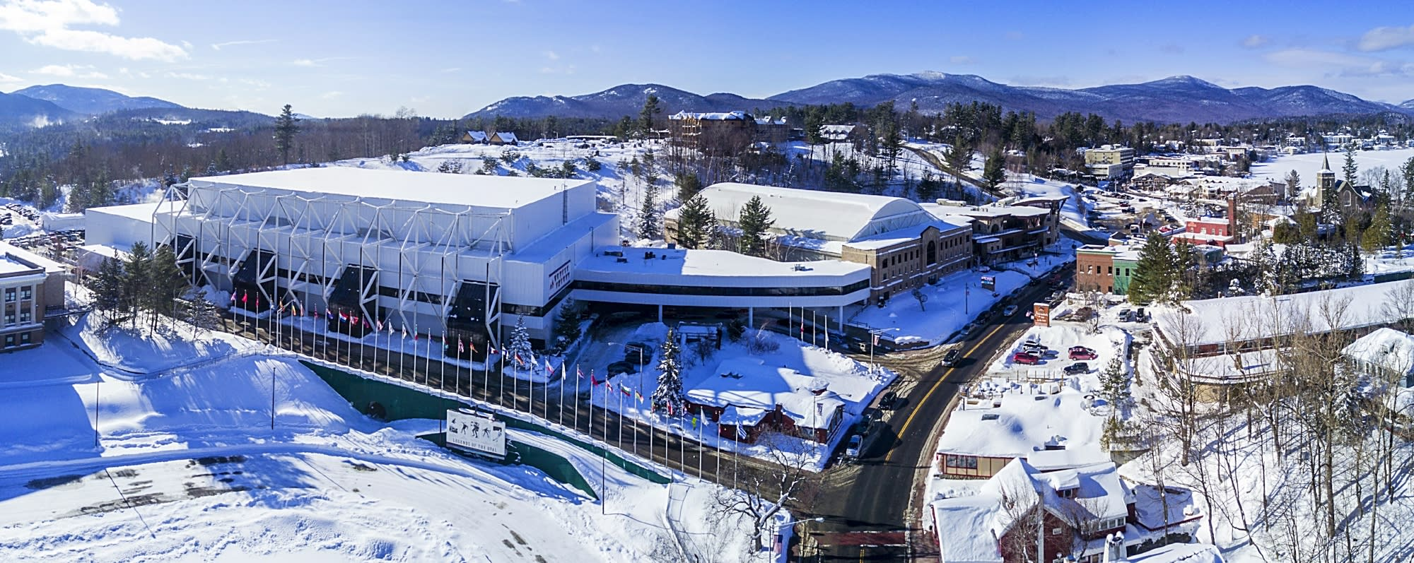 The Olympic Center is a sprawling campus on the outskirts of Lake Placid, NY.