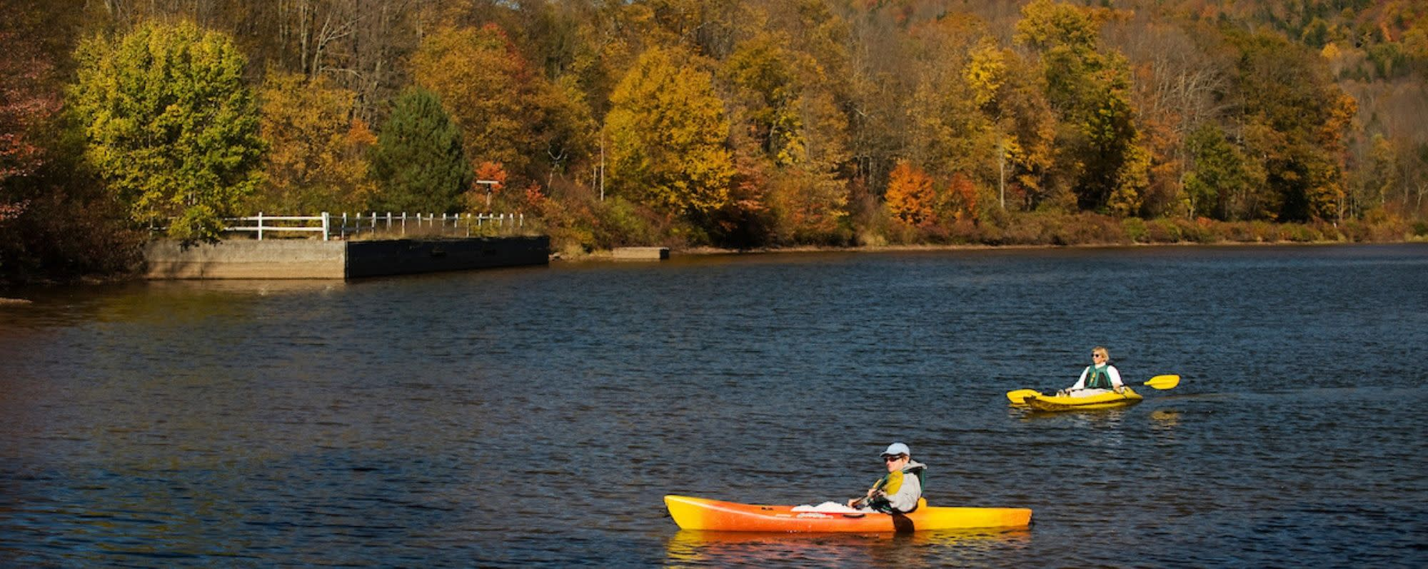 Kayaking on Wawaka Lake