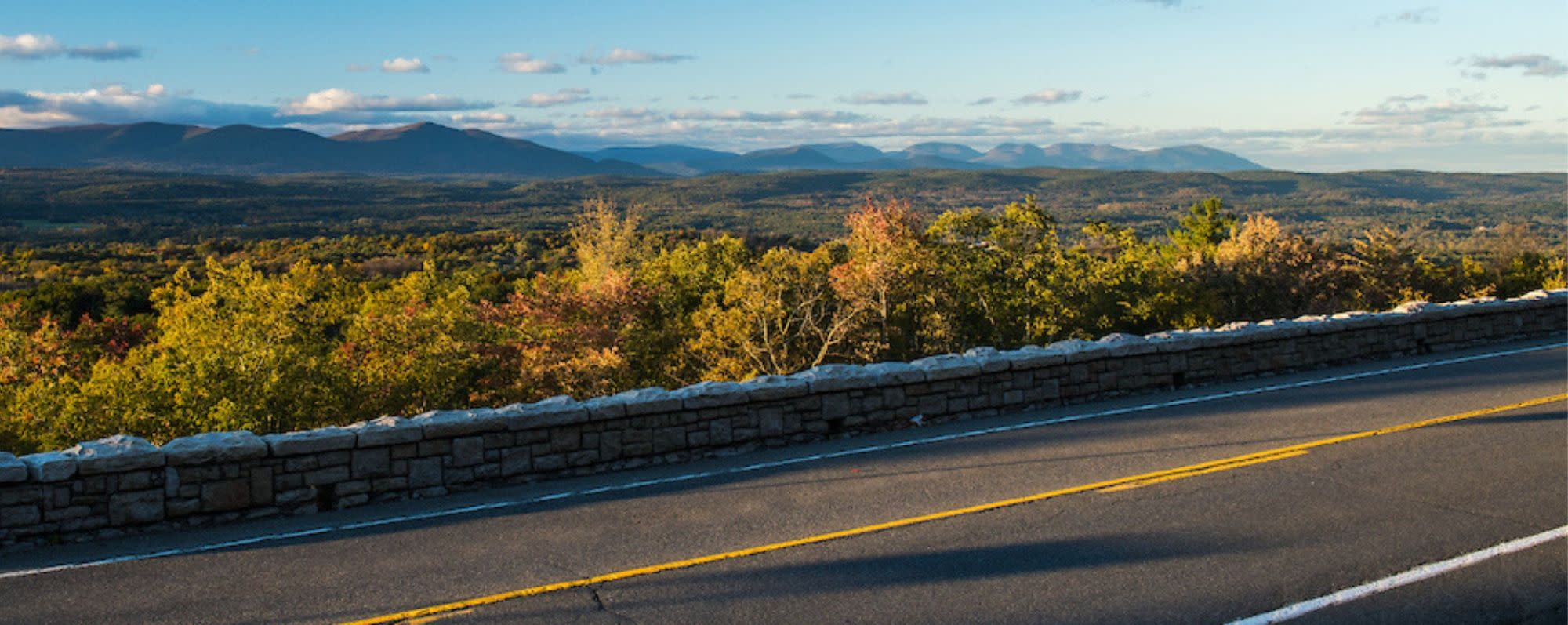 View of the Catskills along scenic Route 44/55