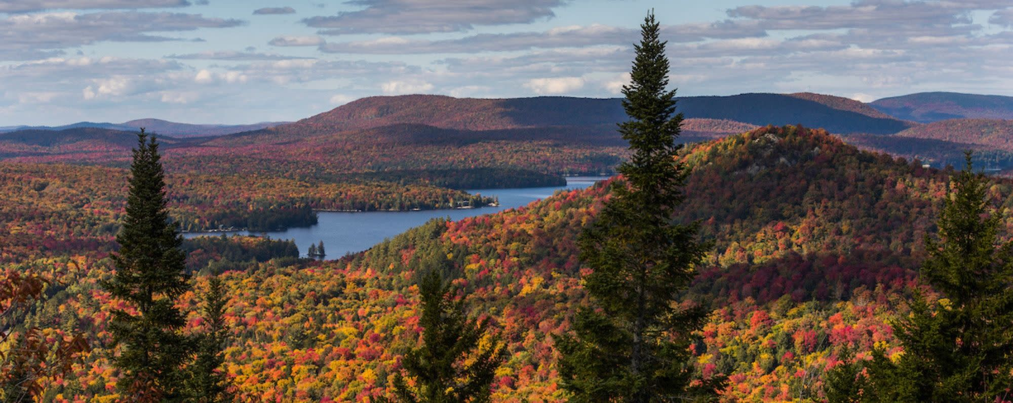 View of Tupper Lake from Coney Mountain