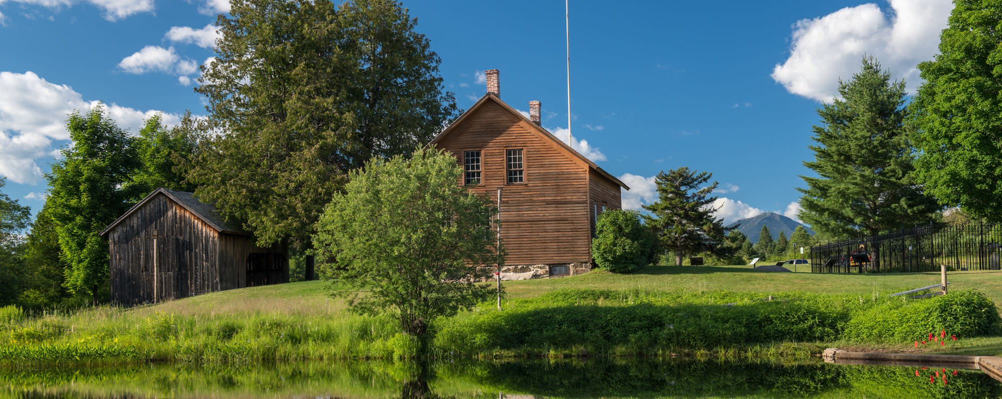 A picture of the exterior of the John Brown Farm State Historic Site