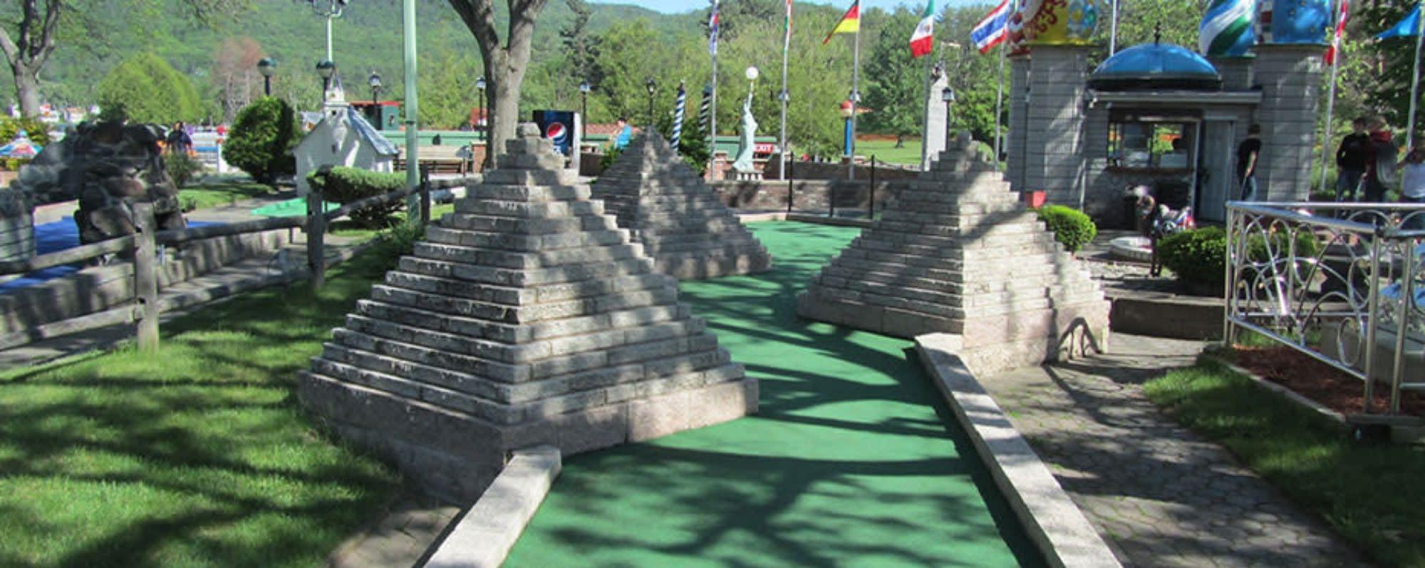 Pyramids at Around the World mini-golf