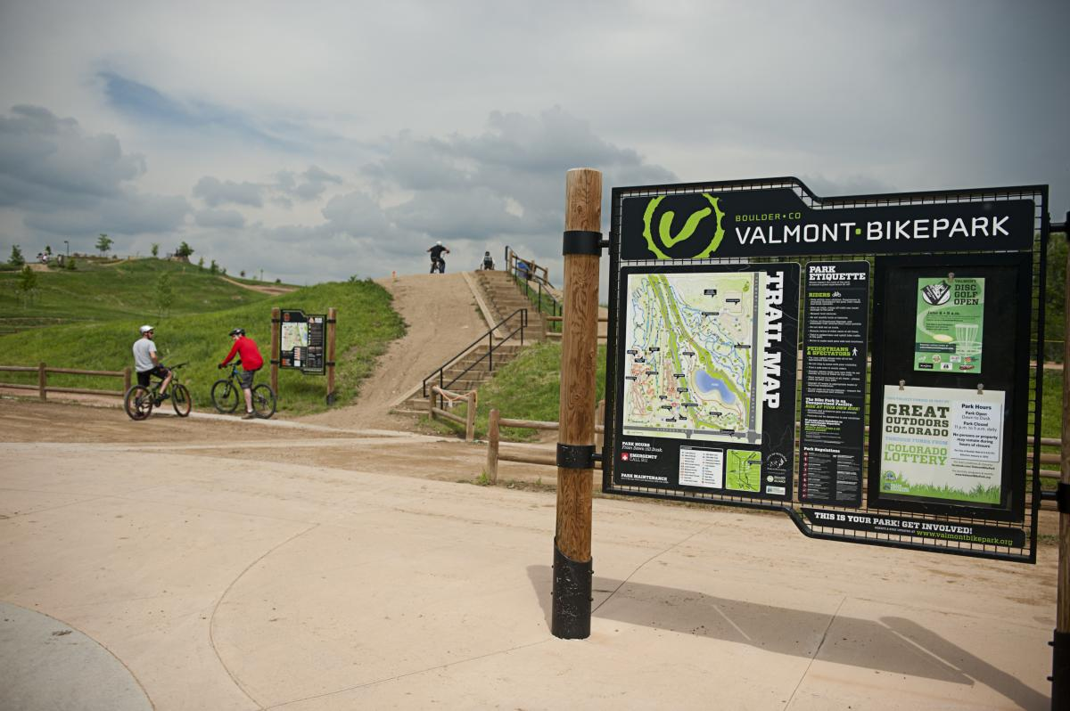 People Biking  Near A Hill At Valmont Bike Park