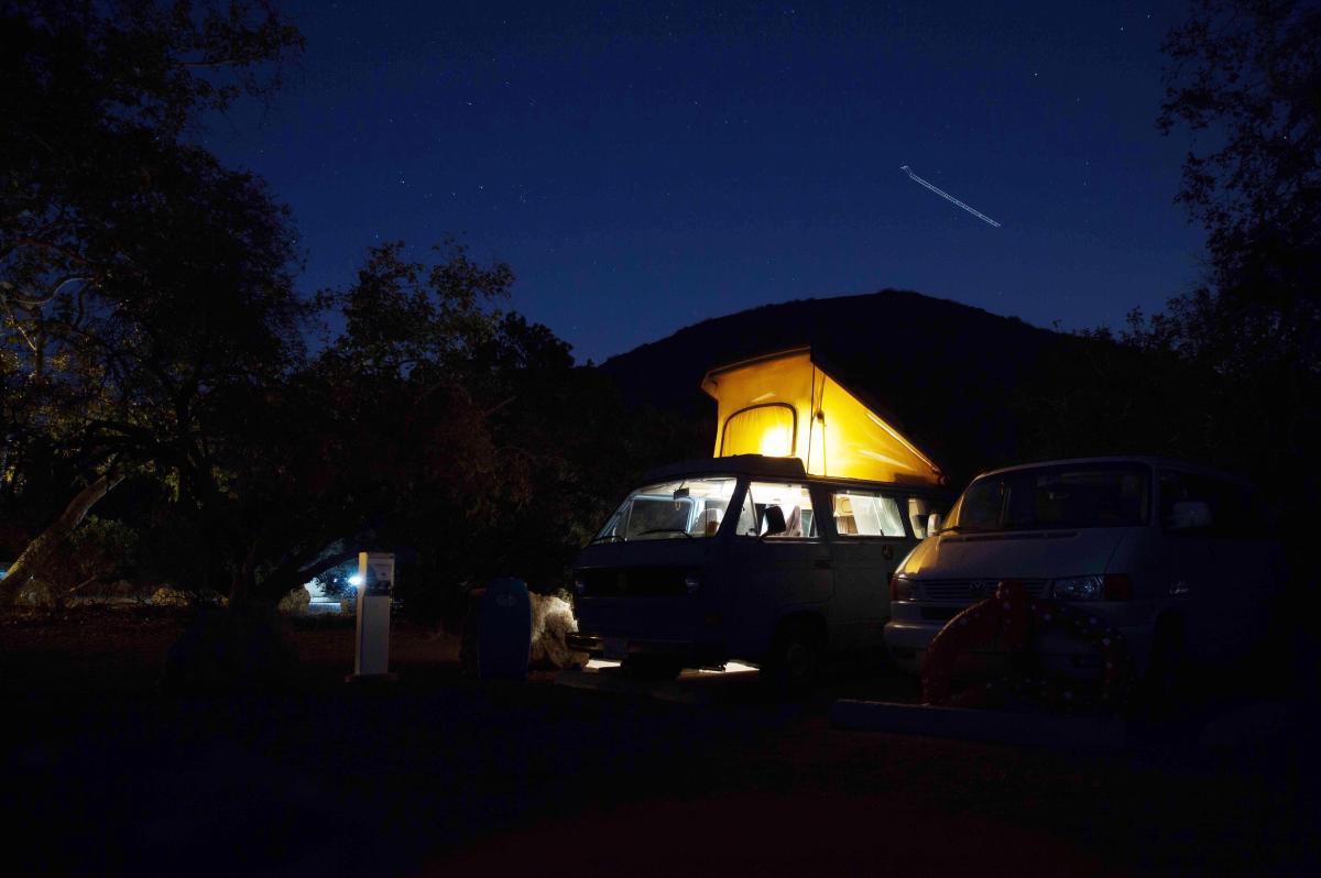 Camper Van in United Campground in Durango