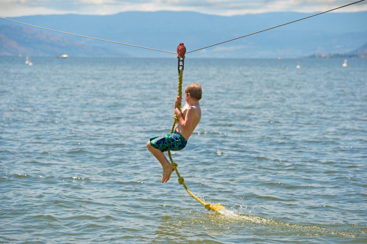 Zipline at Gyro Beach