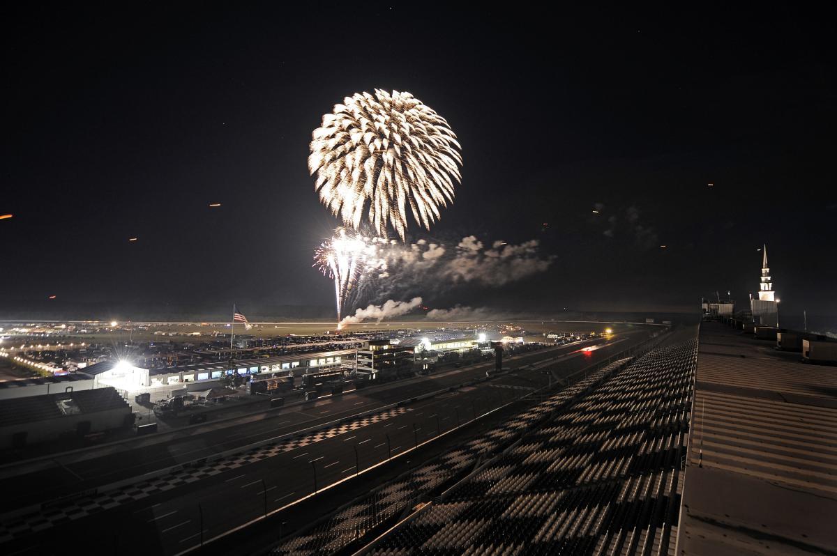 Fireworks at Pocono Raceway